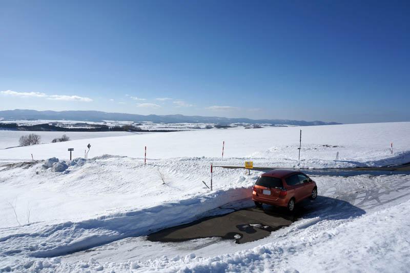 雪の美瑛ドライブ