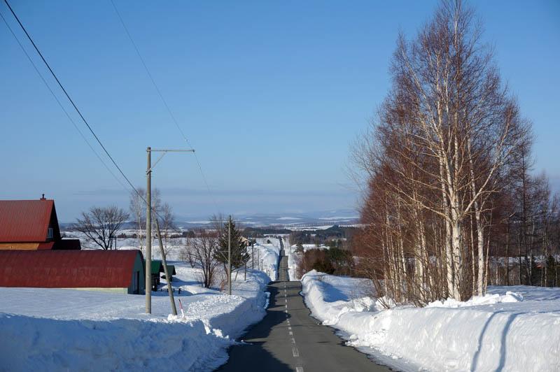 冬のジェットコースターの路