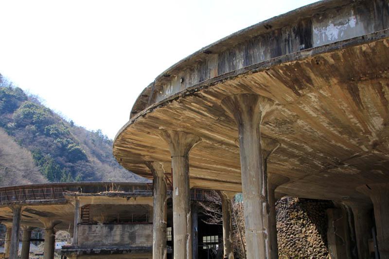 神子畑選鉱所跡シックナー