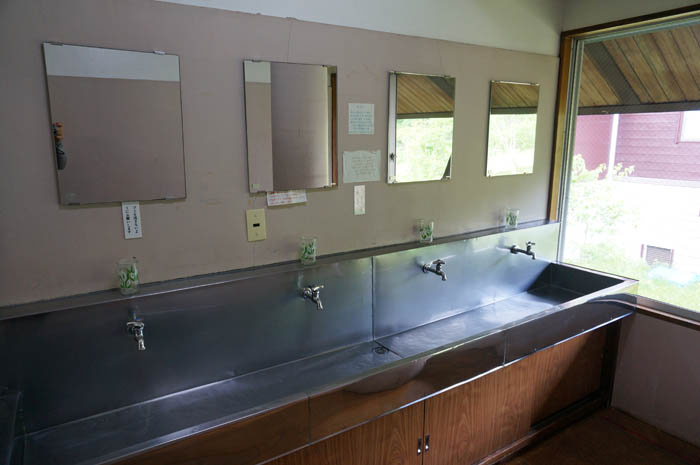 温泉小屋洗面所