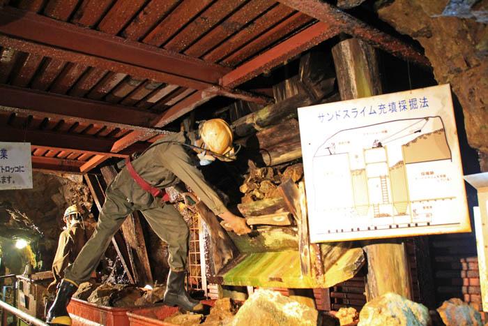 生野銀山サンドスライム充填採掘法