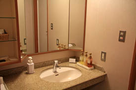 蓼科グランドホテル滝の湯洗面所