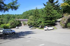 蓼科グランドホテル滝の湯駐車場