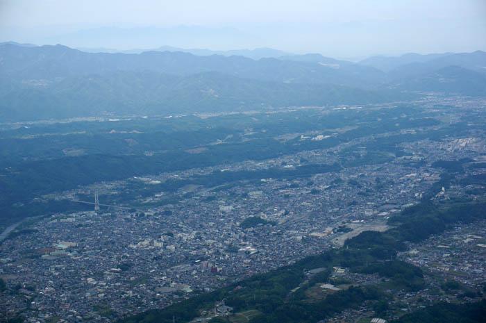 武甲山からの秩父の眺め