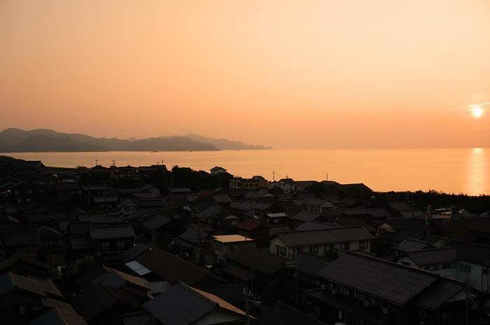 あおき橘風苑夕日