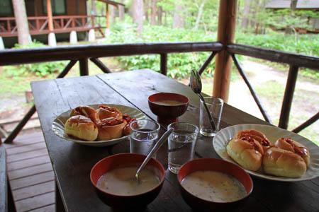 上高地の朝食