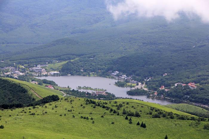 車山からの白樺湖