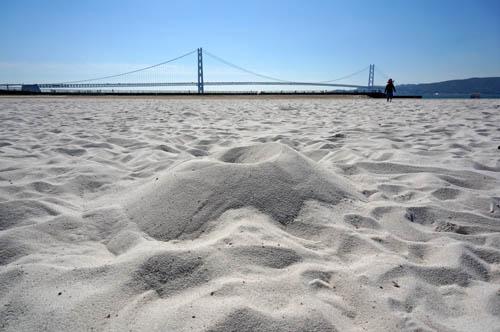 大蔵海岸海水浴場の砂