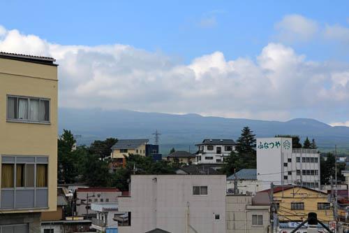 山岸旅館からの富士山