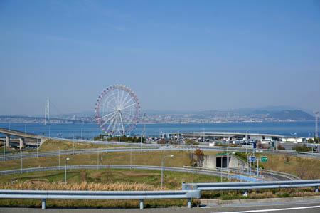 淡路ハイウェイオアシスからの大阪湾の展望