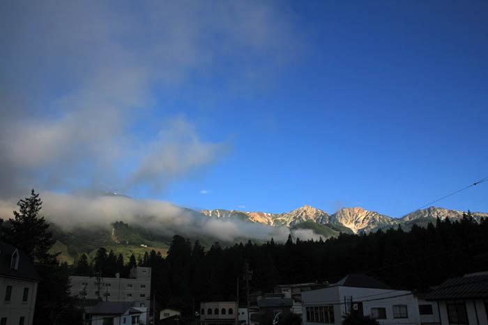 白馬ホテルグローリアスからの白馬岳