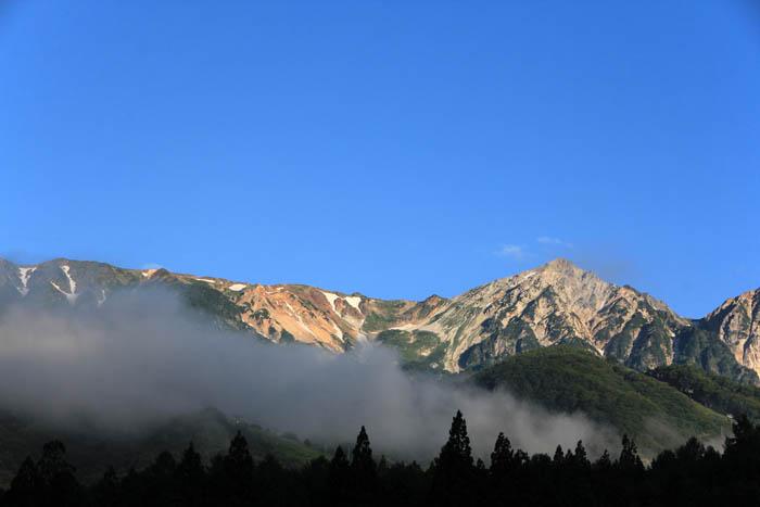 白馬ホテルグローリアスからの白馬三山