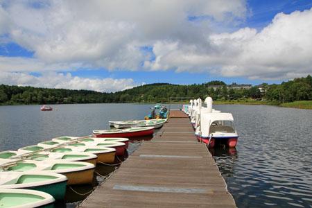 女神湖ボート乗り場