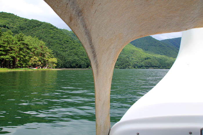 木崎湖スワンボート