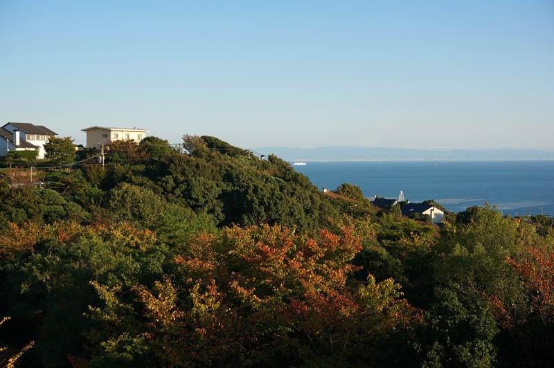 井植記念館から望むジェームス山外国人住宅