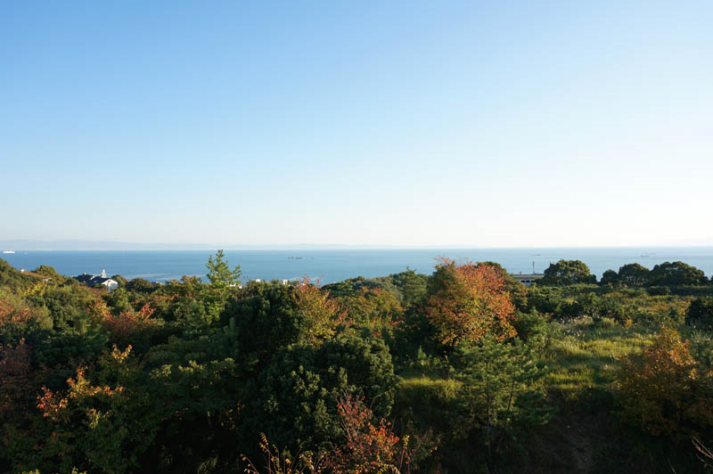 井植記念館からの海の展望