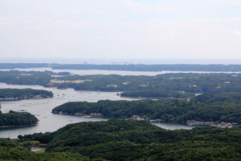横山展望台から望むリアス式海岸