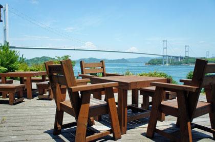 海の見えるカフェ