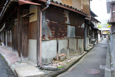 三瓶町の古い街並み