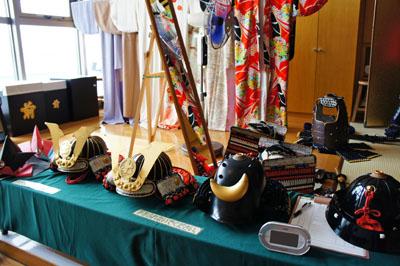 村上水軍博物館甲冑と小袖
