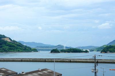 村上水軍博物館からの海の眺め