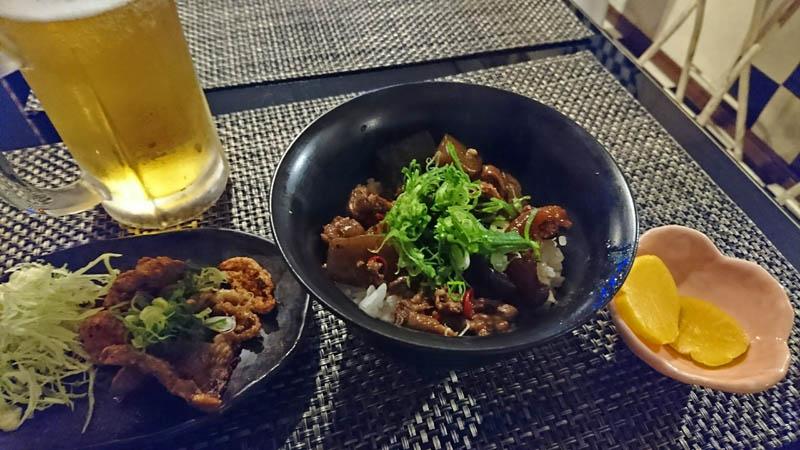 ひっぱり蛸の松阪牛どて煮丼