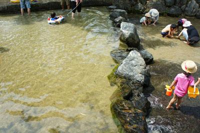 杖ノ淵公園水遊び