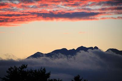 駒ヶ根高原リゾートリンクスからの眺め