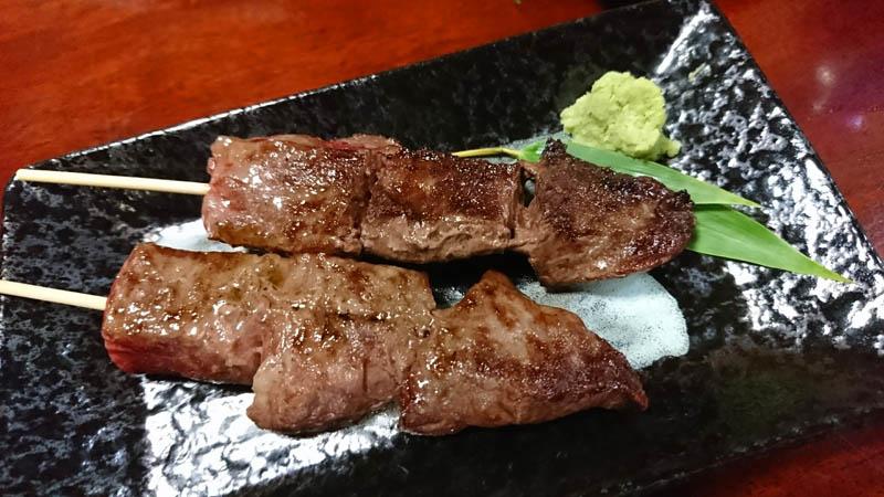 梅一の松阪牛の串焼き