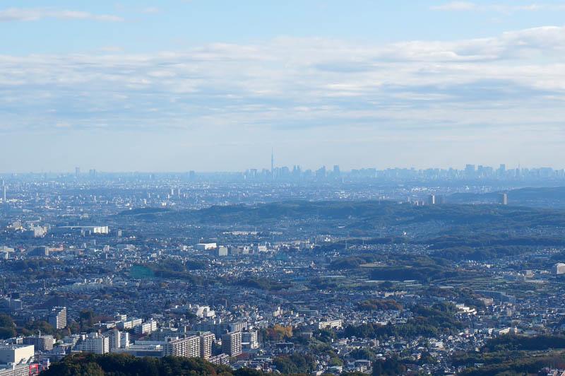 高尾山からの東京の眺め