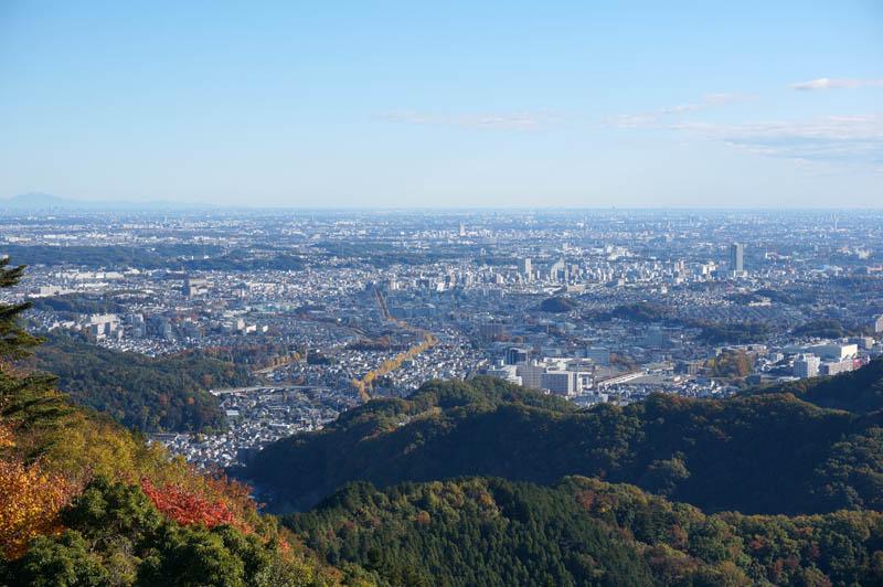 秋の高尾山からの展望