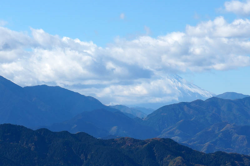 紅葉台からの富士山
