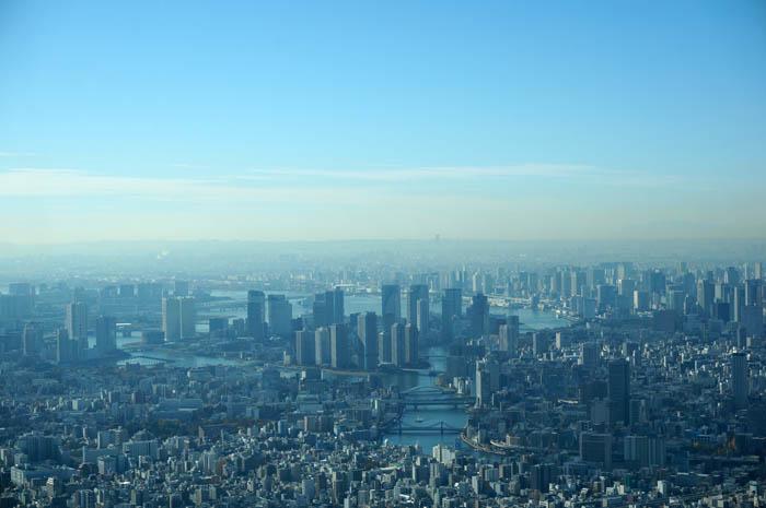 東京スカイツリー天望回廊から豊洲