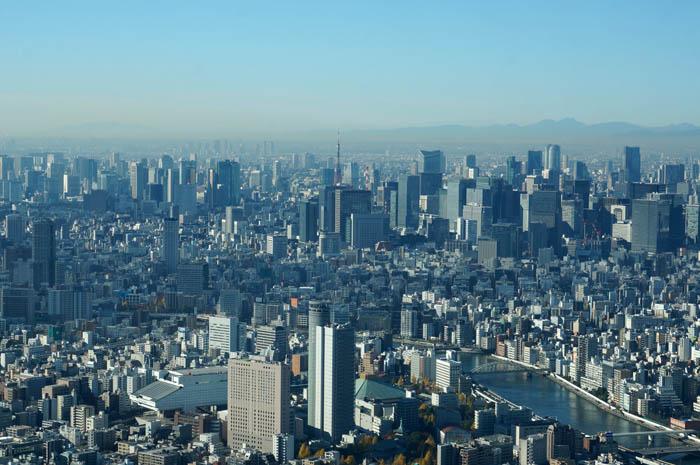 東京スカイツリー天望デッキからの眺め
