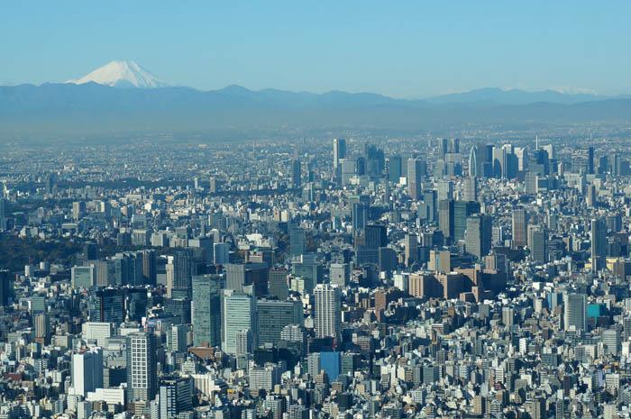 東京スカイツリー天望回廊からの富士山