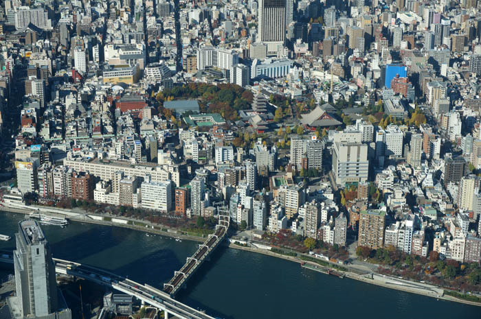 東京スカイツリー天望回廊からの浅草