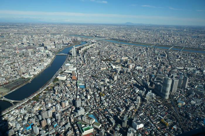 東京スカイツリー天望回廊からの隅田川