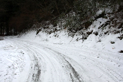 雪の国道494号線