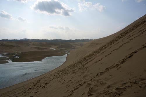 鳥取砂丘オアシスと馬の背