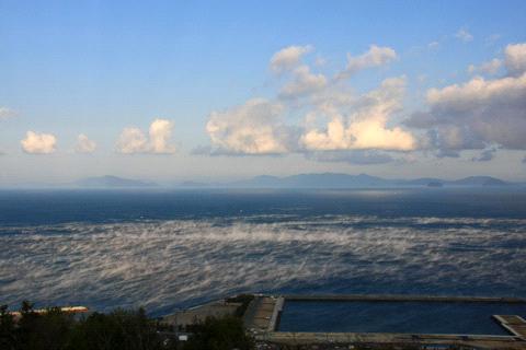 肱川あらし展望公園からの朝の瀬戸内海