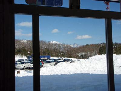 冬の蒜山高原サービスエリア
