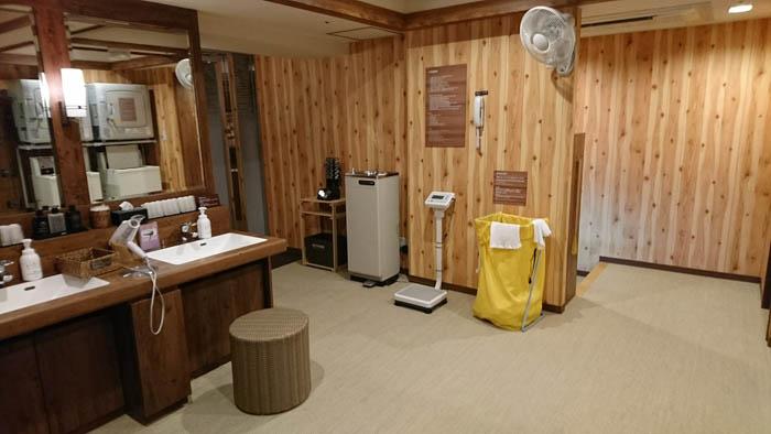 ドーミーイン広島大浴場脱衣所