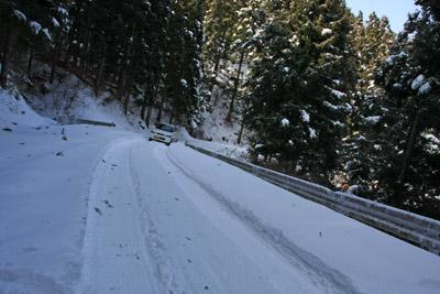 大雪の上林林道