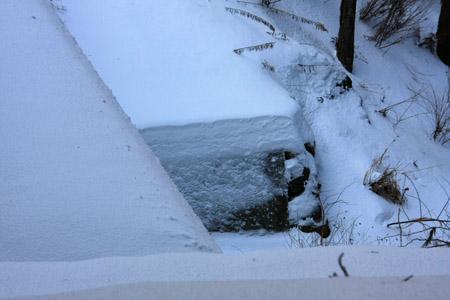 大雪の水の元