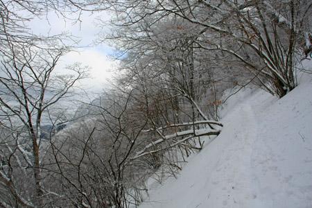 雪の皿ヶ嶺登山