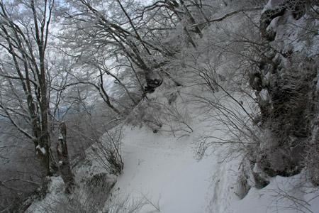 大雪の皿ヶ嶺登山