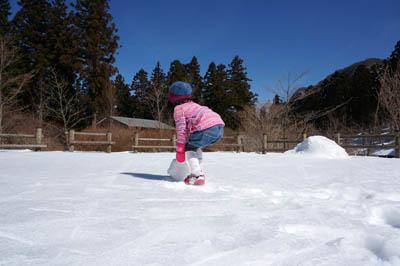 上林森林公園雪遊び