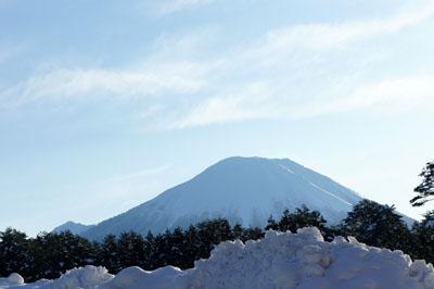 冬の伯耆富士