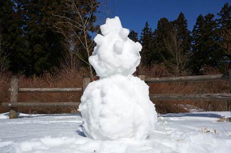上林森林公園雪だるま