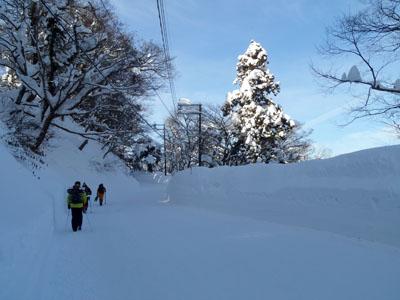 冬の大山環状道路
